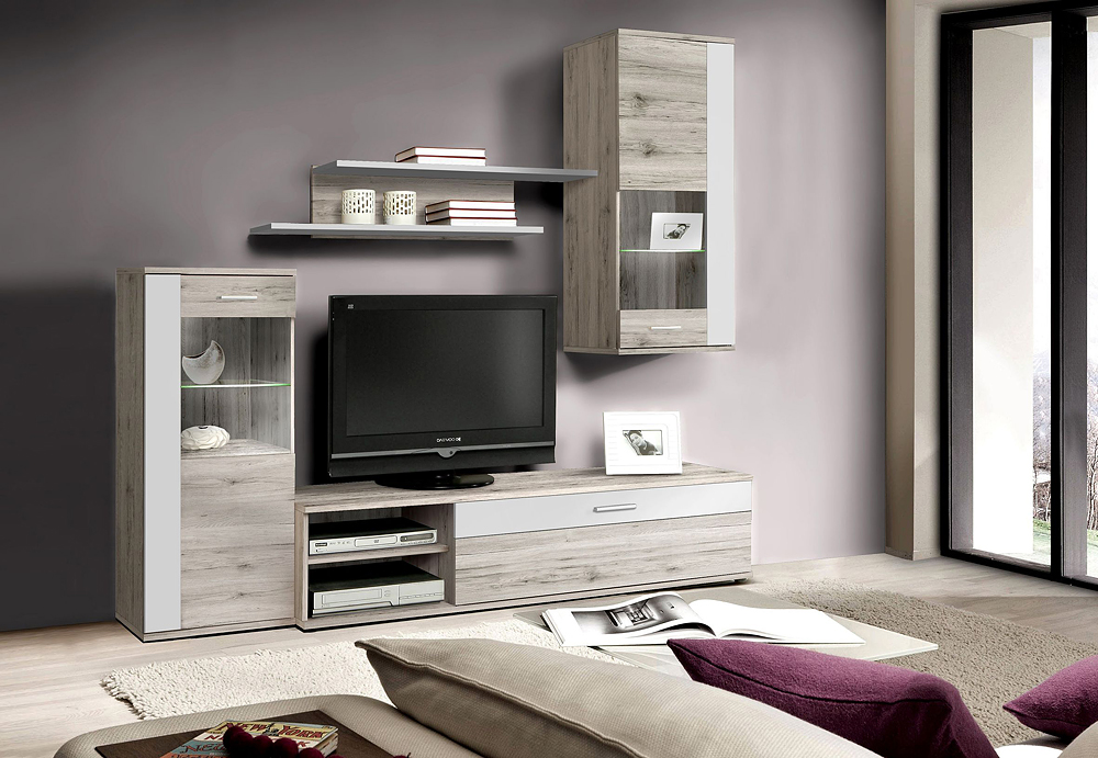 wohnwand hot shot m bel wolf. Black Bedroom Furniture Sets. Home Design Ideas