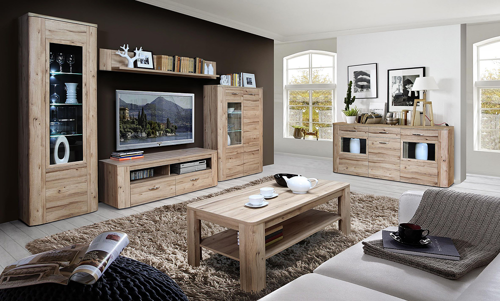 wohnwand malfa m bel wolf. Black Bedroom Furniture Sets. Home Design Ideas