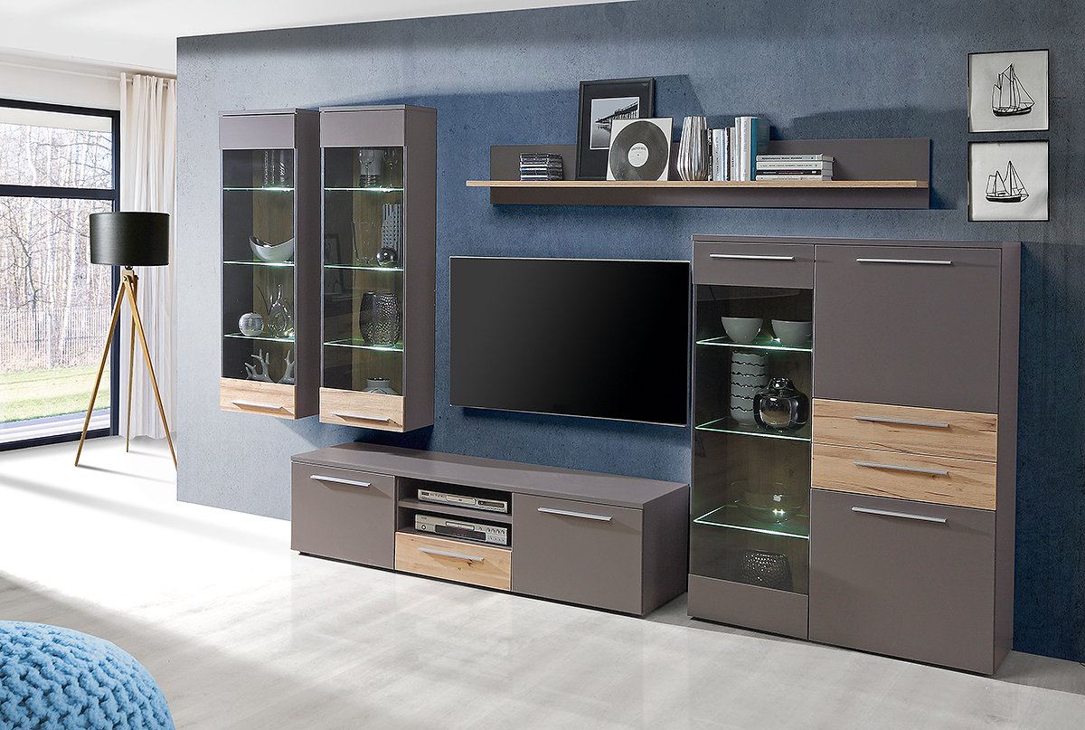 wohnwand venedig m bel wolf. Black Bedroom Furniture Sets. Home Design Ideas